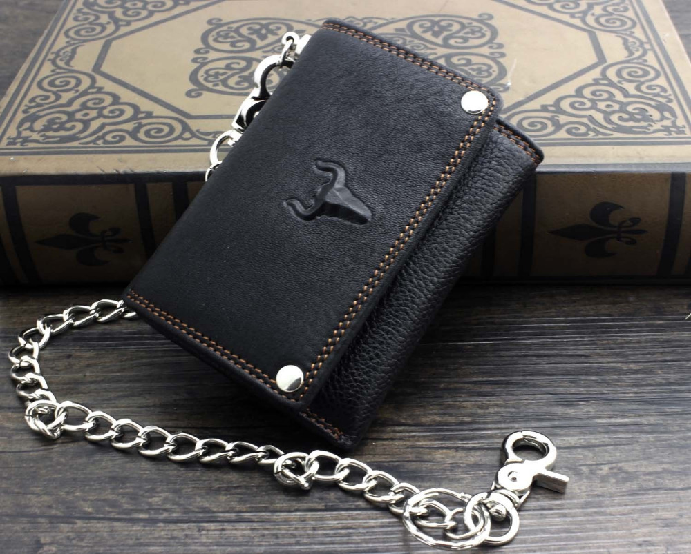 Aliexpress buy new mens boys biker leather trifold