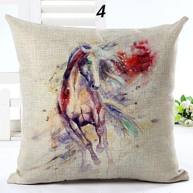 il pillow cover farmhouse equestrian horse decor etsy market