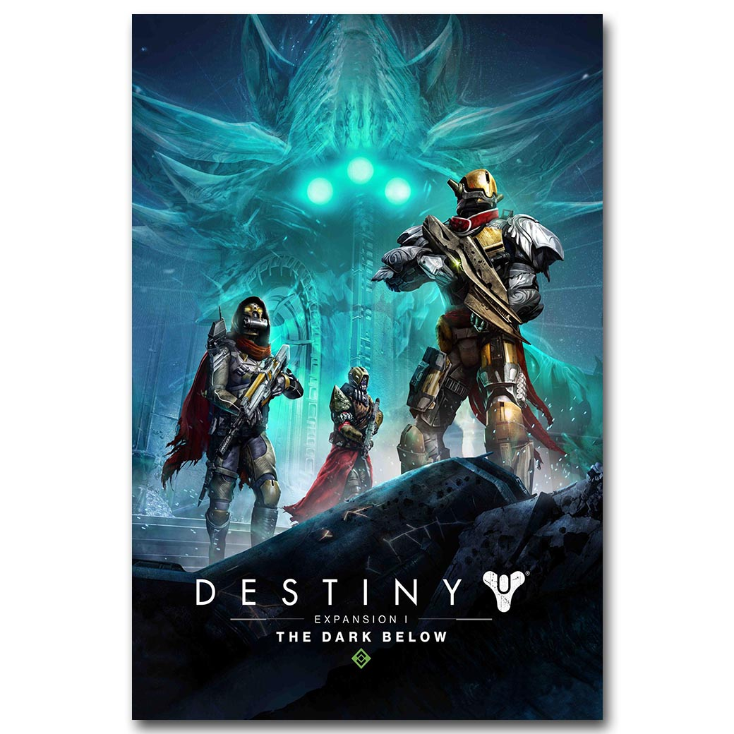 Destiny Art Silk Fabric Poster Print 13X20 24X36 Inch Hot Game Picture For Living Room -8054