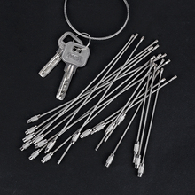 Keychain-Ring Gadget Screw-Lock Luggage-Tag EDC Outdoor Camp Rope Cable-Loop Stainless-Steel-Wire
