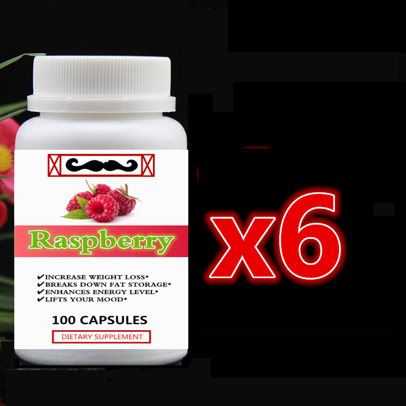 6 bottle 600pcs Pure Raspberry Ketones Extract Increase Weight Loss Break Down Fat Storage Enhances Energy Level Lift Your Mood free shipping pure nature raspberry extract raspberry ketones powder 500mg x 100caps