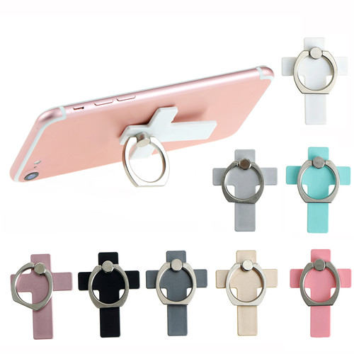 For iPhone iPad Xiaomi Huawei Universal 360 Degree Cross Plastic Finger Ring Smartphone Stand Holder Mobile Phone Holder Stand