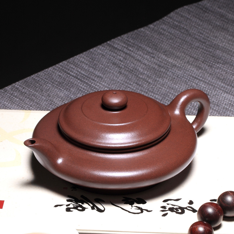 [pottery source] Yixing famous Li Xiaolu pure all hand set teapot, purple clay pot, purple clay flat pot siberian chaga mushroom extract 100pieces bottle boost your energy level support your immune system free shipping
