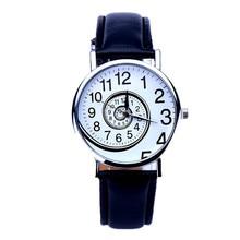 New Hot Sale Fashion watch CLAUDIA Women Swirl Pattern Leather Analog Quartz Wrist Watch Freeshipping clock Relogio Feminino
