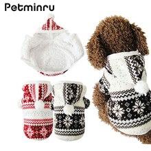 Petminru Лидер продаж зимняя одежда для домашних животных уютный Снежинка мягкая одежда с принтом в виде собак куртка костюм кошки плюшевый балахон собака пальто, Одежда для питомцев
