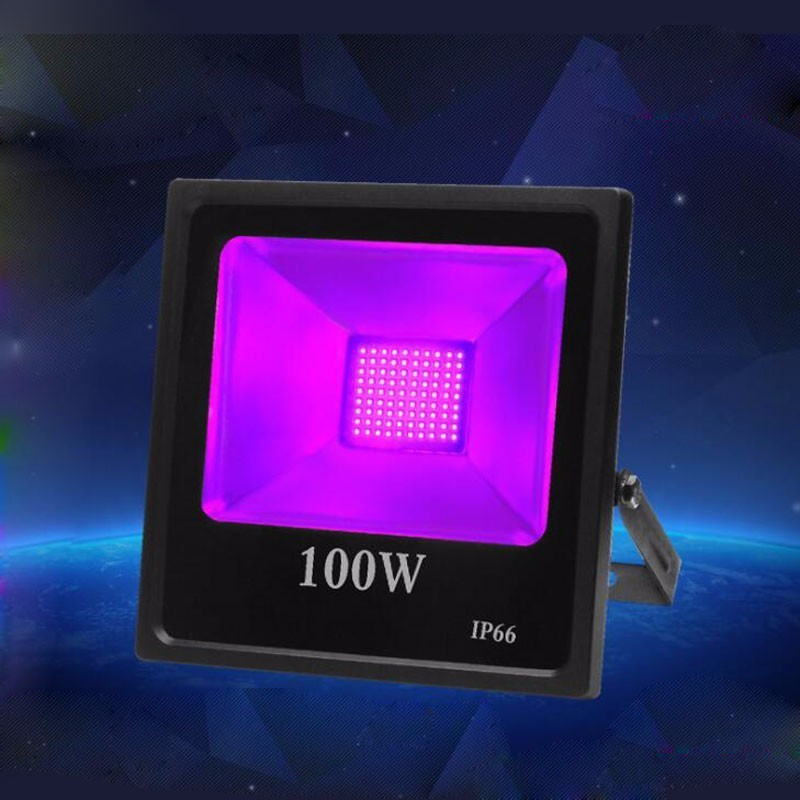 150W UV Black Light Flood Light Bulb,UV LED Floodlight Outdoor IP66 Blacklights