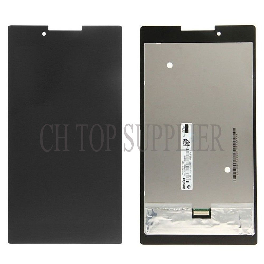 все цены на  Original Full LCD Display + Touch Screen Digitizer Glass Assembly For Lenovo Tab 2 A7-30 A7-30DC , Free Shipping  онлайн