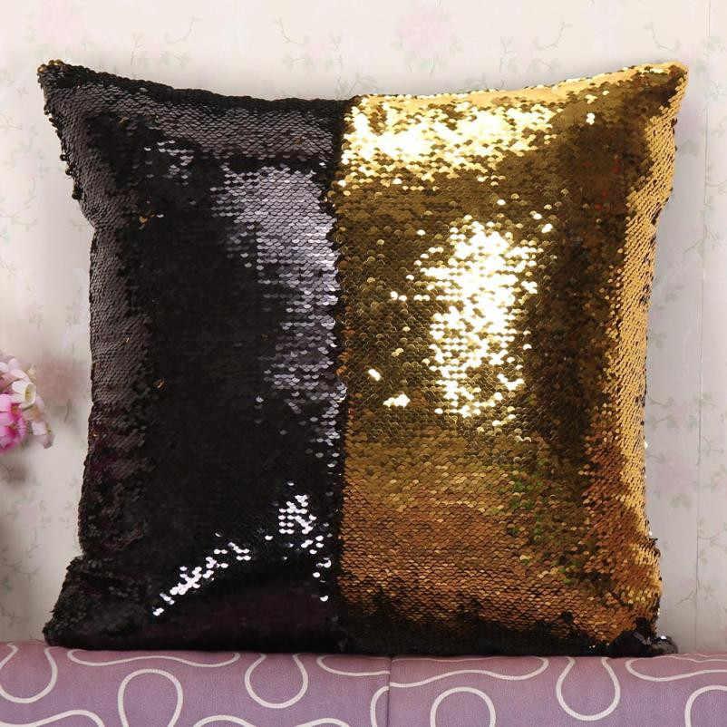 Двусторонняя блестящая подушка со стразами чехол магический Цвет Изменение блесток Бросок Подушка Чехол домашний декор декоративная подушка чехол s #5 $
