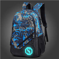 Fashion Unisex Backpack Mens Student Casual Oxford Laptop Bag Harajuku Graffiti School Bag Rucksack Bookbag With Florescent Mark