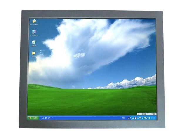 2015 новый промышленный монитор с сенсорным экраном 19 дюймов стены монтажного открытой рамки жк-монитор с VGA / HDMI / DVI вход для быстрой доставки