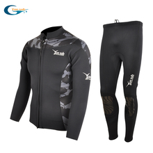 купить Neoprene 2MM Man Diving Suit Surfing And Spearfishing Wetsuit Two Pieces Free Shipping дешево