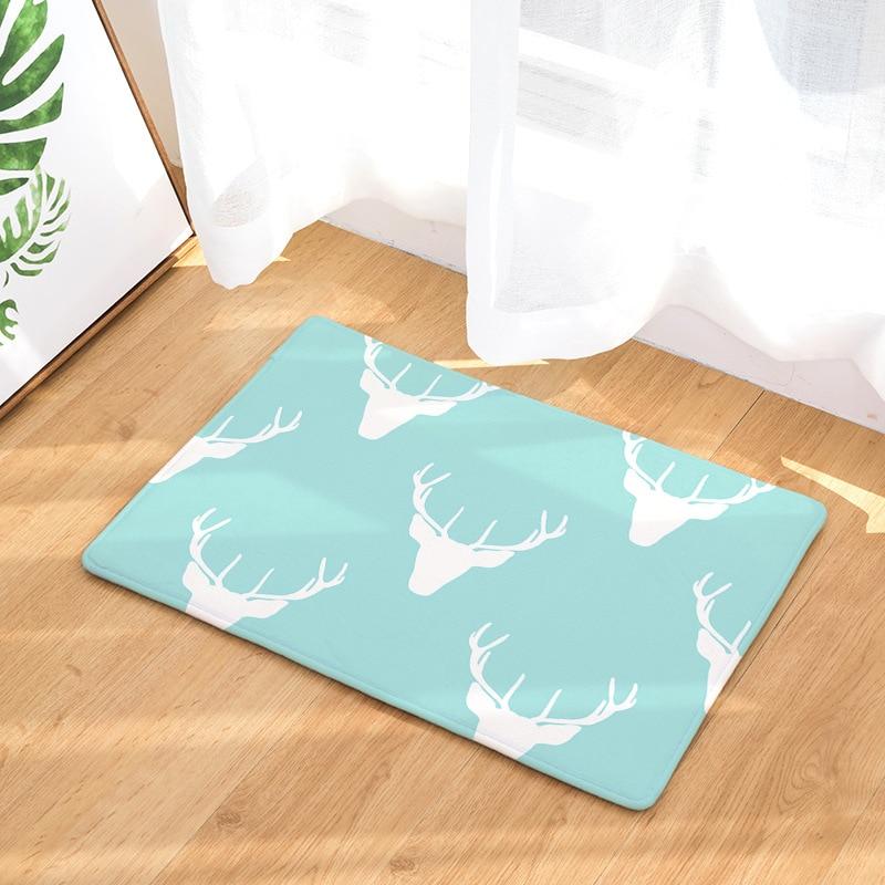 Blue Kitchen Floor Mats: CAMMITEVER Blue Sky Deer Mat Christmas Home Decor Soft
