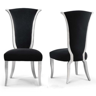 Attractive European Post Modern Neo Classical Furniture Stylish Dining Chairs Fabric  Chairs Hotel Furniture Wood
