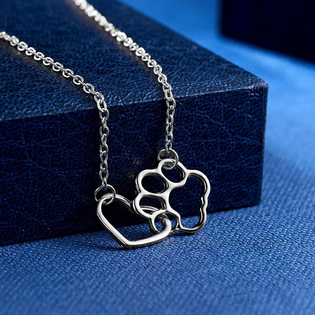 Dog Claw Heart Necklace 5