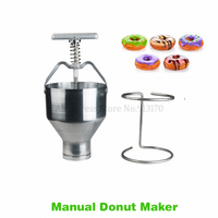 Stainless Steel Hand operated Cake Donuts Machine Small Doughnut Making Tool Kitchen Appliance 6 Levels Manual Adjustment