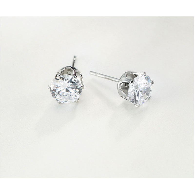 European and American zircon studs, medical needles, AAA zircon lady earrings for special activities
