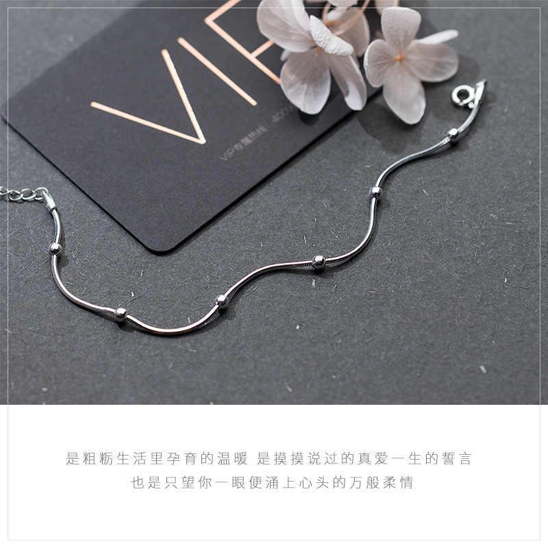 S925 Bạc Bóng Bát Giác Chuỗi Con Rắn Sterling Bạc Vòng Đeo Tay Nữ Hàn Quốc Phiên Bản Thời Trang Đơn Giản Vòng Đeo Tay Đồ Trang Sức với Hộp