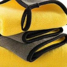 800GSM 30X30/40/60 двустороннее полотенце из микрофибры для мытья автомобиля из Корал-флиса для очистки Полотенца висит Полотенца Автомойка мягкая подкладка из микрофибры