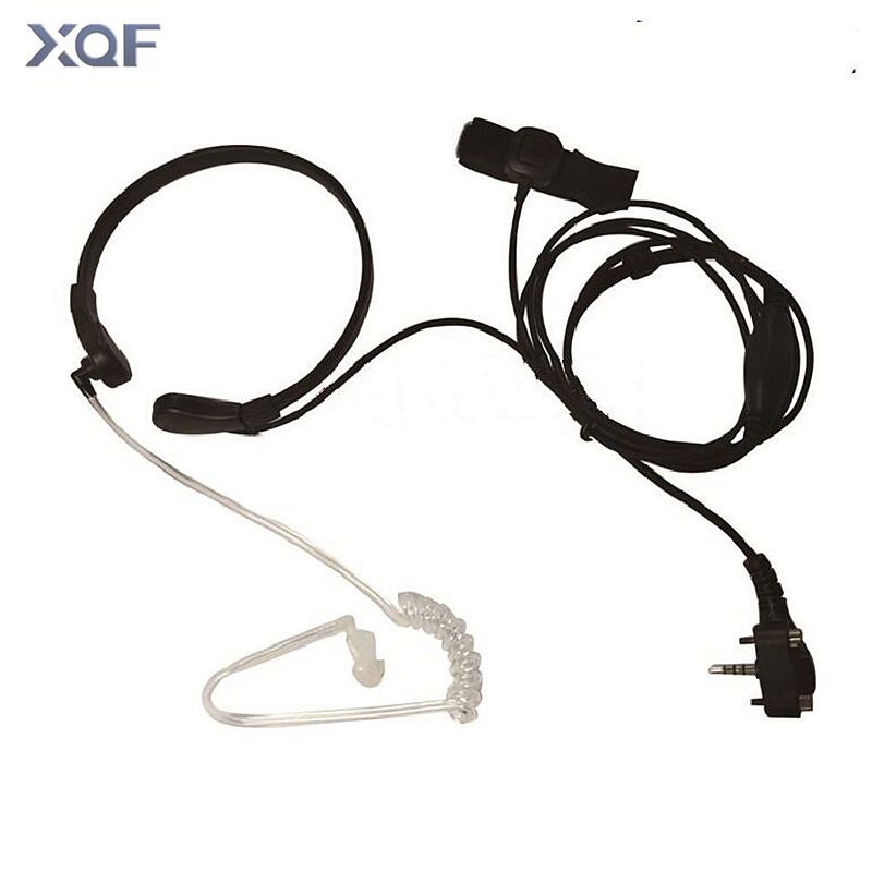 Throat Microphone Mic PTT Laryngofon Air Tube Headset Earpiece For Vertex Standard VX131 VX230 VX231 VX261 Walkie Talkie