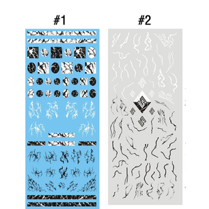 Image 2 - 1 sheet NailMAD Stone Marble Nail Water Decals Transfer Stickers White Marble Nail Art Tattoo Sticker Black Marble Water Slide