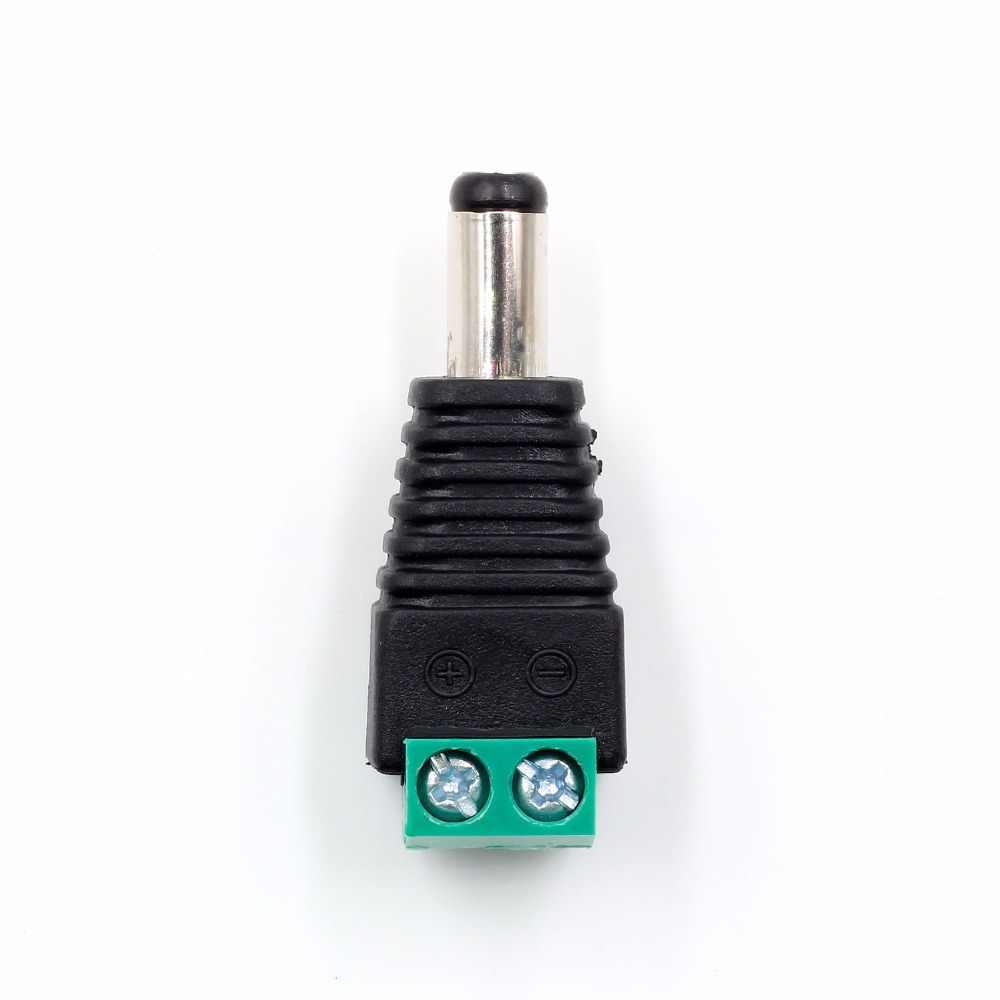 Femelle mâle DC connecteur de prise d'alimentation à sertir bornier adaptateur pour 2pin 5050 3528 LED couleur simple bande CCTV