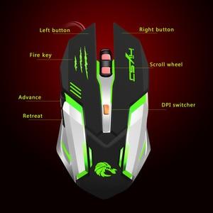 Image 5 - Hxsj機械式ゲームマウスs100 5500 dpi 6ボタンカラフルなledバックライト付きライトusb有線光学ゲーミングマウス