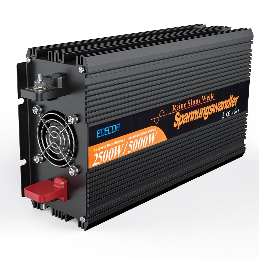 цена на 2500w 5000w peak DC 24V AC 220v  230V pure sine wave solar inverter