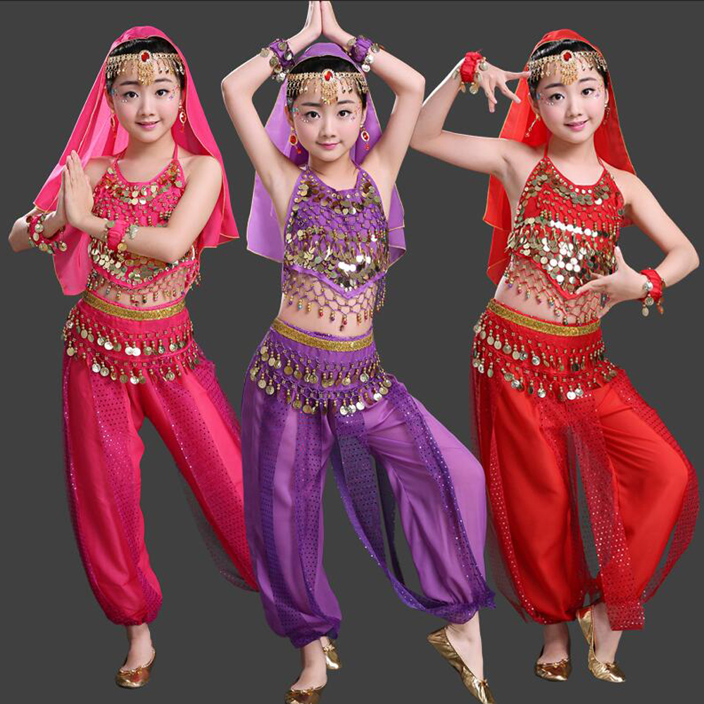 Kids Belly Dance Costumes Girls Bollywood Dancing clothes