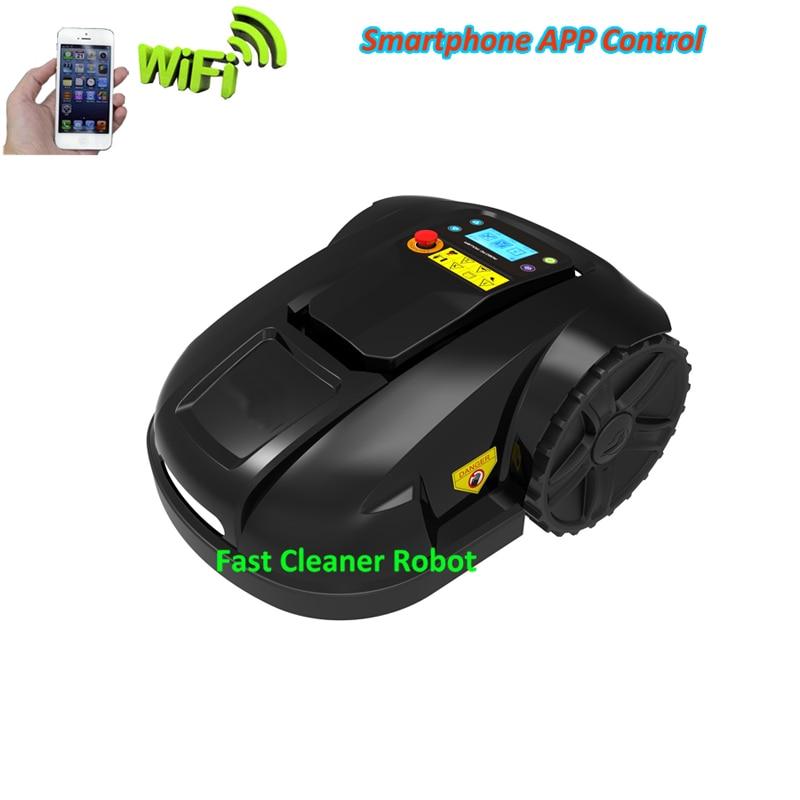 Fonction GYROSCOPE Mini Robot intelligent tondeuse à gazon avec Smartphone fonction APP WIFI, chargeur étanche, fonction sous-zone + gamme