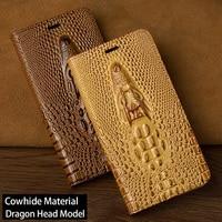 Flip Phone Case For Huawei P9 P10 P20 Lite Mate 10 20 lite Pro Case Dragon Head Cover For Honor 7X 8X 9 10 lite P Smart Case