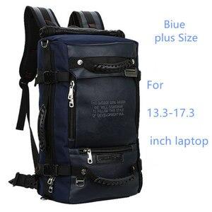 Image 3 - ノートパソコンのバックパック 17 18 インチのラップトップバッグ 17.3 15.6 14 インチ屋外大旅行バックパックショルダー男性バッグ容量マルチ目的