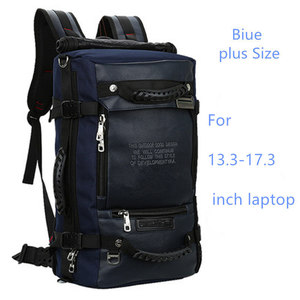 Image 3 - كمبيوتر محمول على ظهره 17 18 بوصة حقيبة لابتوب 17.3 15.6 14 بوصة في الهواء الطلق حقيبة السفر الكبيرة الكتف الرجال حقيبة سعة متعددة الأغراض