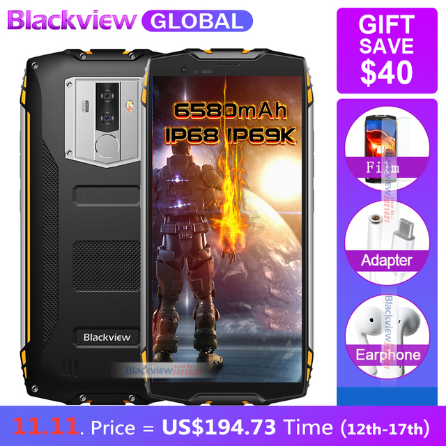 """Blackview BV6800 pro 6580mAh IP68 Waterproof 16MP NFC Wireless charger 5.7""""18:9 Smartphone 4GB RAM 64GB ROM MT6750T Android 8.0"""