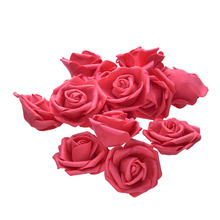 50Pcs 7cm PE Foam Rose Artificial Flower Heads For DIY Wreaths Wedding Event Decoration Home Garden Decorative Supplies Colorful