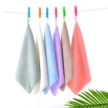 10 Pcs/Set 5 Colors Small Towel 30*30cm Soft Cotton Hand for Adults and Children Handkerchief Quick-Dry Bathroom Gift