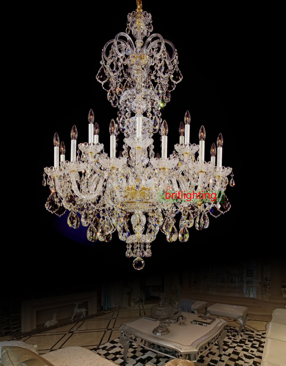 Aliexpress Large Crystal Chandelier Entrance Hall Lighting Luxury Light Fashion Chain From