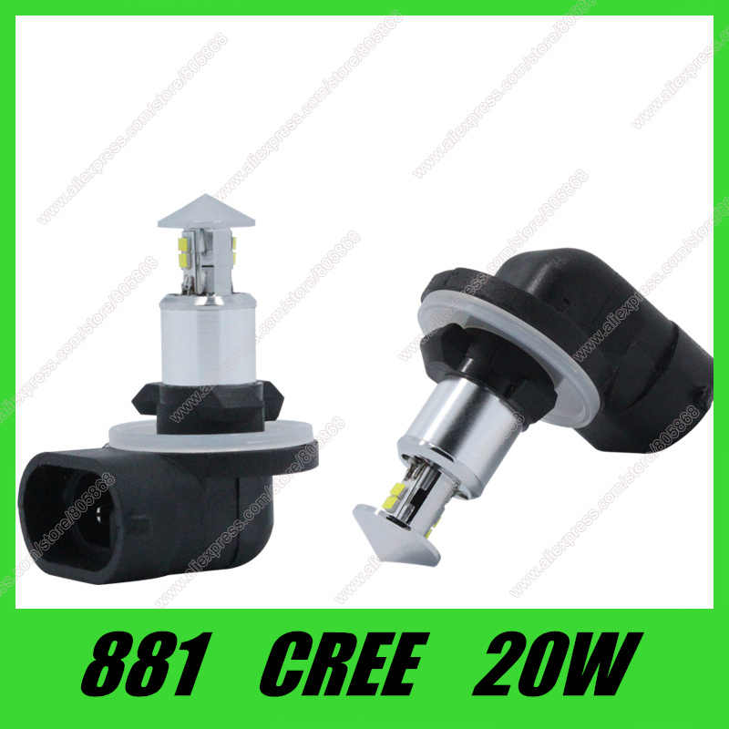 High Quality 881 h27 led 20W cree chip led LED High Power White Car Auto led  Running Lights Headlight Fog Lamp DC12V