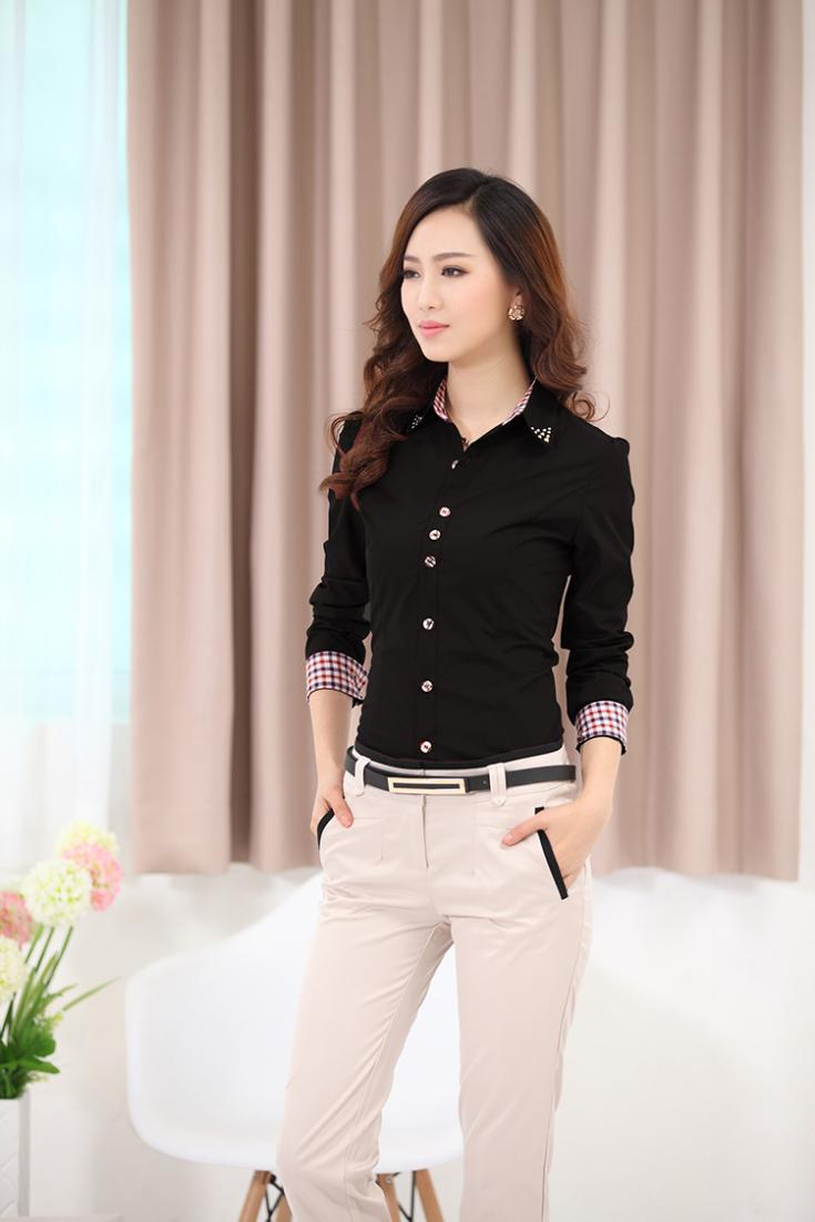 Online Shop 2016 Blouses Shirts Women's Clothes TurnDown Collar ...