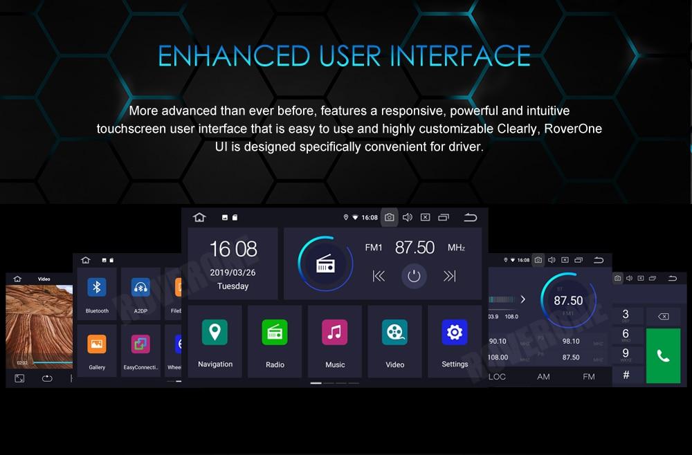 Excellent RoverOne Car Multimedia Player For Fiat Fiorino Qubo For Citroen Nemo For Peugeot Bipper Android 9.0 Octa Core Radio Navigation 14