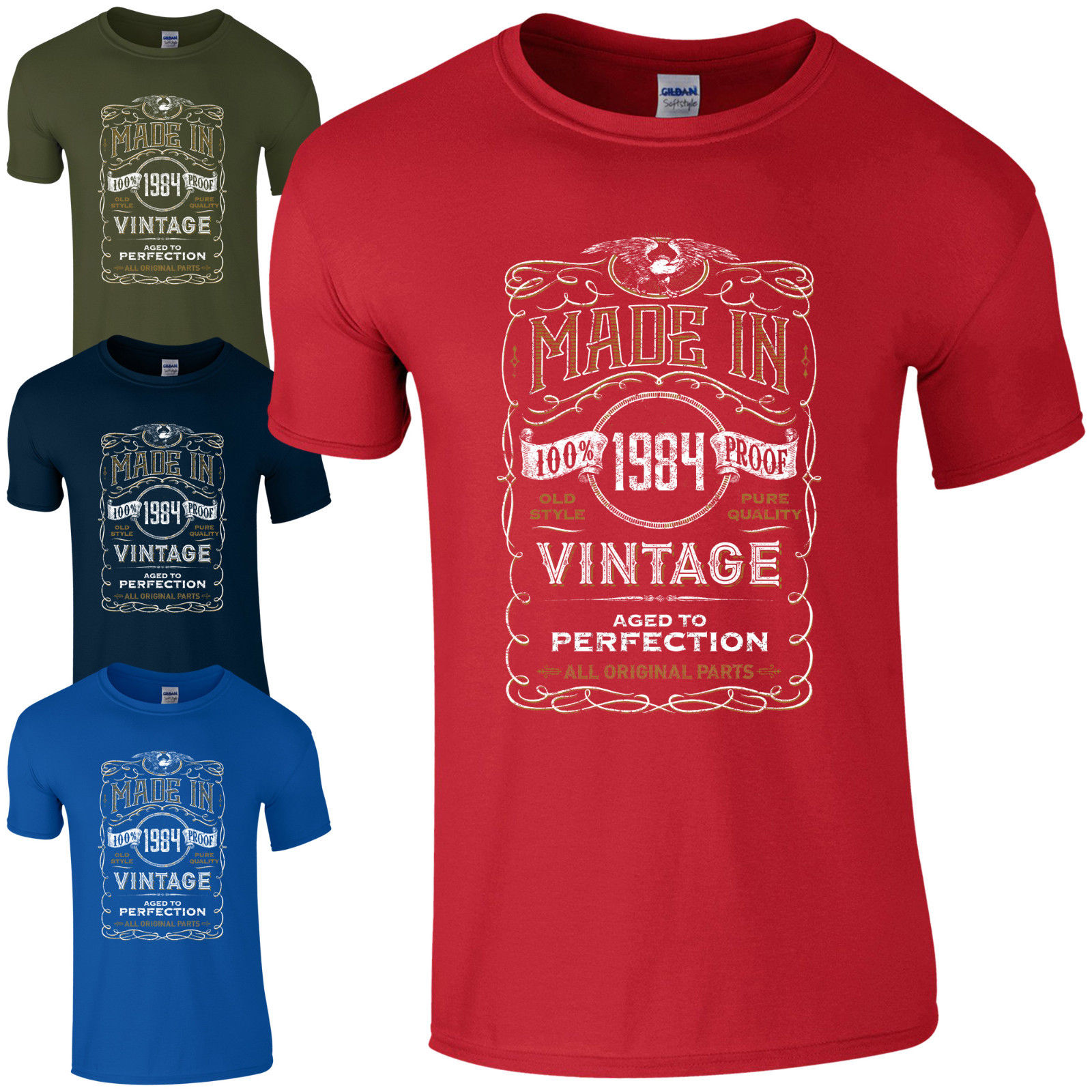 Made in 1984 T-Shirt Born 34th Year Birthday Age Present Vintage Funny Mens Gift Print T Shirt Short  free shipping