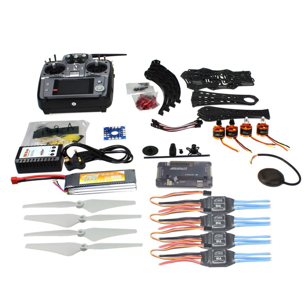 F14893-N Full Set DIY RC Drone Quadrocopter X4M380L Frame Kit APM2.8 GPS AT10 TX