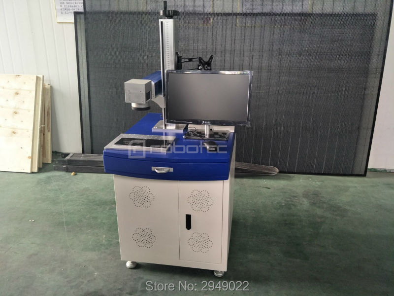 2017 20W Fiber Laser Marking Machine for Electronic Component Mobile Phone Shell Watch Shell Stainless Steel