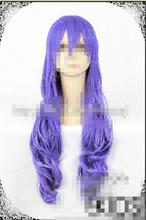 Wholesale heat resistant LY free shipping SHERYL COSPLAY Purple Curly Wig