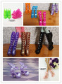2016 NEW 2 pair Boots + 3 pair Shoes for Monster inc high Doll,Free Shipping Doll shoes for Monster Hight Doll,Accessories DIY