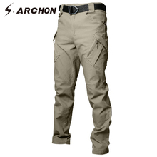 S.ARCHON IX9 Tactical Military Cargo Pants Men Cotton Stretc