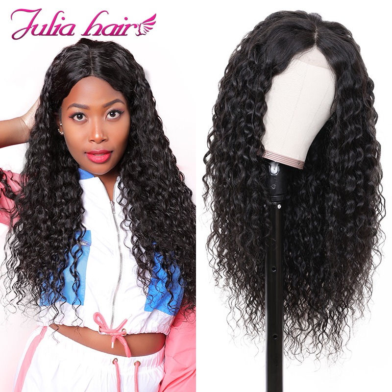 Ali Julia Hair 360 Lace Front Human Hair Wigs Brazilian Water Wave Wig With Baby Hair Natural Color Remy