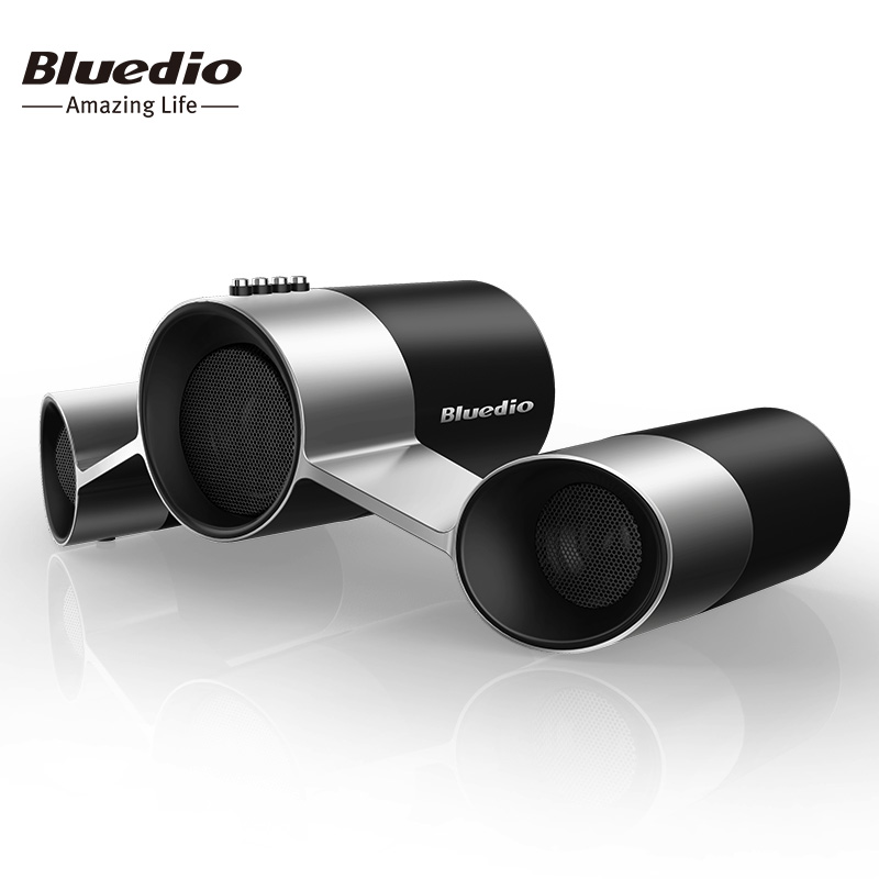 Bluedio US Wireless Home Audio Speaker System Patented Three Drivers Bluetooth speakers with Microphone  Bass 3D Sound Surround rotibox mini soundbar ultra compact portable mutimedia wireless stereo bluetooth speaker hifi powerful crystal sound with balacne audio deep bass cinema surround sound aux connection for outdoor sports play home audio