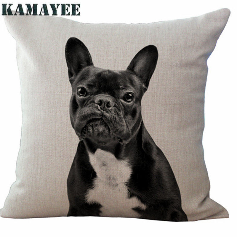 Wholesale 43 5x43 5cm Home Decor Pillow No Filling Adorable French Bulldog Dog Series Cushion