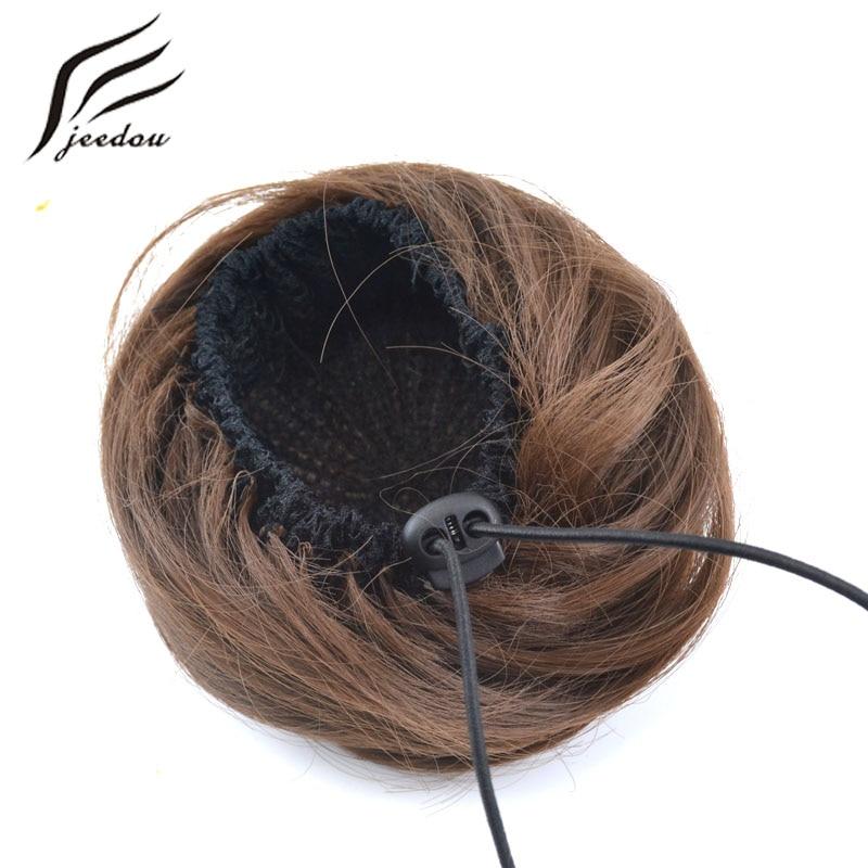 jeedou pelo sintético pelo rubio rubio color de la mezcla 30g bollo - Cabello sintético - foto 5
