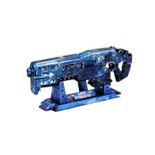 High Quality Colorful Gauss Rifle Fun 3D Metal Diy Miniature Model Kits Puzzle Toys Children Educational Boy Splicing Hobby(China)